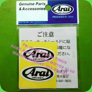 STICKER VISOR ARAI... ~Original ~Rm25 1set