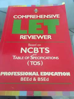 Comprehensive LET Reviewer Professional Education (BEed & BSEd)