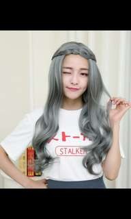 Preorder korean natural daily long wig*   waiting time 15 days after payment is made* chat to buy to order
