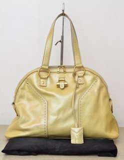 YSL Muse medium patent leather beige