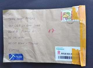 Bukti pengiriman ke vietnam