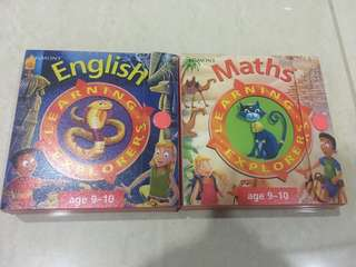 English and Maths Learning Explorers Cards for Key Stage 2 Age 9-10
