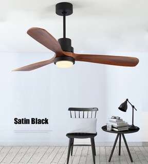 Loft design living room wooden fan