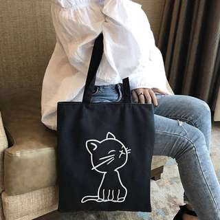 [PREORDER] Cat Canvas Tote Bag
