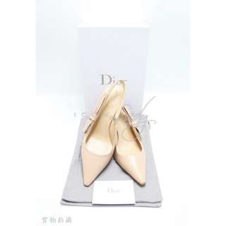 DIOR「J'ADIOR」裸色小羊皮綴以飾釘高跟鞋