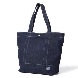 Head Porter Denim Tote Bag (L)