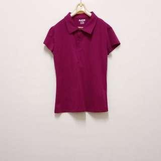 🚚 ▪️紫紅色polo衫