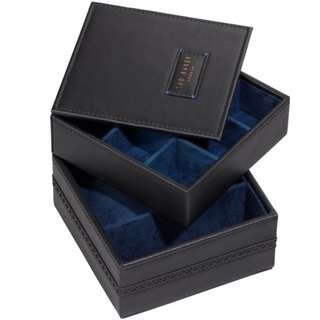 原價£46.95 - Ted Baker Mens - Black Brogue Lifestyle Accessory Box - T0306