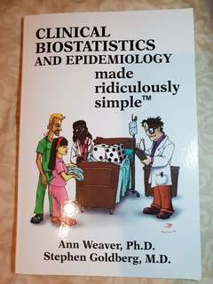 Clinical biostatistics and epidemiology made ridiculously simple. Free delivery