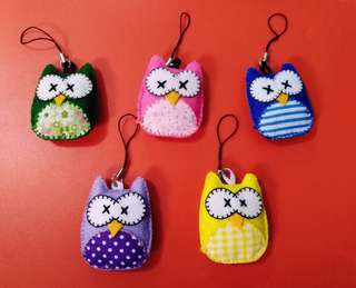 OwL pLush phOnecharms
