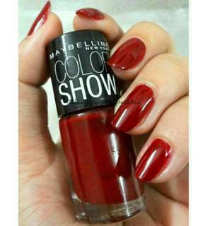 💄💎 AUTHENTIC Maybelline New York Color Show Nail Polish By Colorama 352 Downtown Red