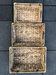 (SALE!) (PLEASE TAKE THEM) Natural Grass Woven Basket