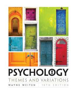Psychology : Themes and Variations — 10th edition 大專院校心理學教科書 📖