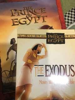 Set of 2 Bible story books prince of Egypt