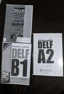 French workbooks DELF B1, DELF A2, Prendre au Mot