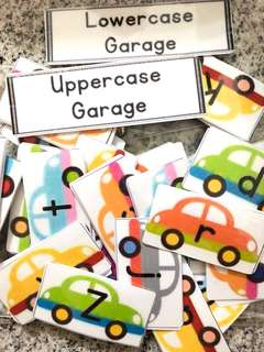 Lower and Upper Case Garage Alphabet Sorting