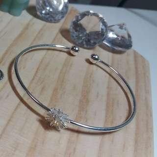 #180703_鍍銀小黃菊手環