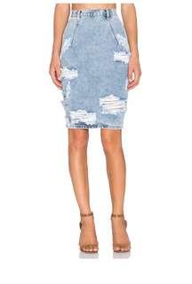 One Teaspoon distressed denim Freelove skirt