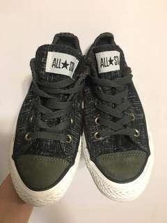 全新現貨 converse All star 軍綠色布鞋 女裝5.5