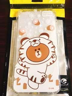 Line Friends 熊大老虎iphone6s plus 手機軟殻