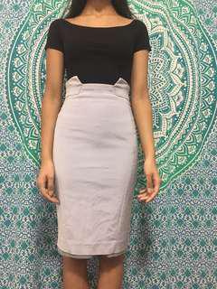 High Waisted Cue Pencil Skirt