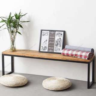 (SALE!) (PLEASE TAKE THEM) Long and Short Wood Bench (with cushion)