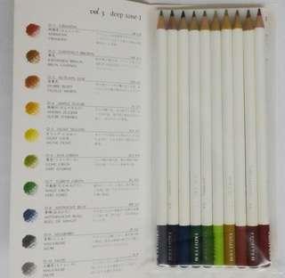 3 蜻蜓牌 色辭典 深沉1 木顏色筆 10色 Color Pencil Tombo IROJITEN