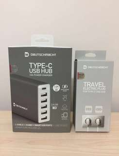 USB HUB WITH TRAVEL ELECTRIC PLUG-旅行叉電插頭-DEUTSCHMACHT