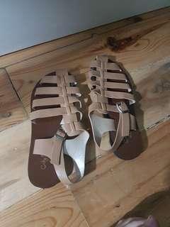 City Soles Nude Sandals size 37