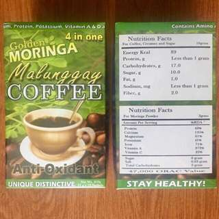 Golden Moringa Malunggay Coffee