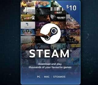 Jual Cepat Steam Wallet $10