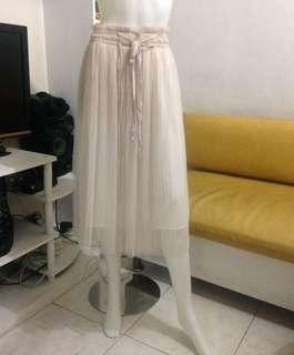 Nude mesh skirt