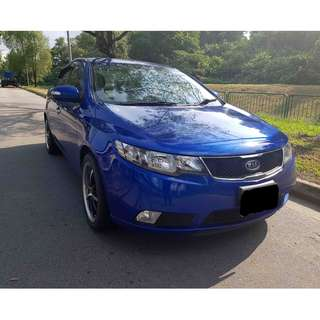 Cheapest Car Rental, Kia Cerato Forte for car rental for personal or grab use