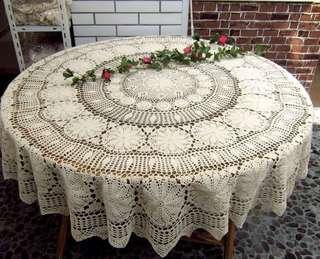 (SALE!)(PLEASE TAKE THEM) Handmade Round Table Cloth