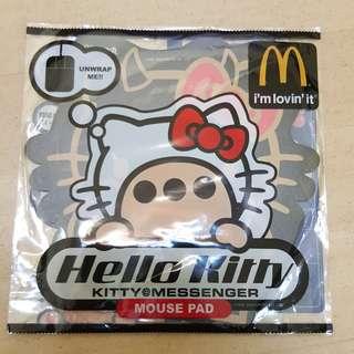 全新hello kitty x mcdonald 黑色crossover mouse pad 包平郵