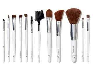 E.L.F. Cosmetics, Essential Professional Complete Brush Set, 12 Brushes