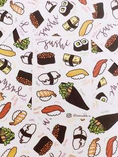 Oishi Sushi Sticker Sheet
