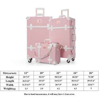 Pink Suitcase Luggage