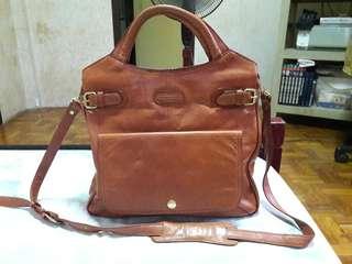 Nicole St Gilles Paris Genuine Leather Two Way Crossbody Handbag
