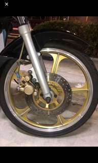 rim full chop gro for rxz selling with fkr tyres just changed