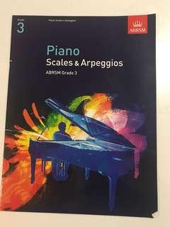 Grade 3 piano scales and arpeggios