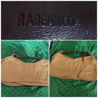 rabeanco beige leather bag
