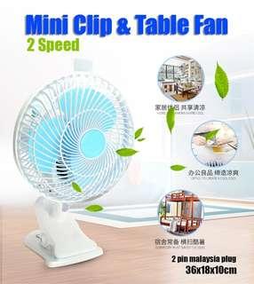 Mini Clip Table Fan