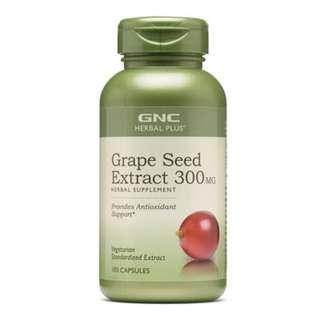 [全場最平旺角門市現貨] 美國 GNC 特強美肌 Grape Seed Extract 葡萄籽精華 100粒 Burn 60™ CLA Q10 L carnitine