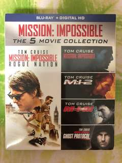 Blu Ray Movie - Mission Impossible 1 to 5