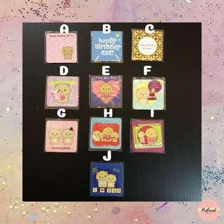 GREETING CARDS - Kartu Ucapan Mini 6x6 cm