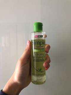 Simple oil cleanser/makeup remover