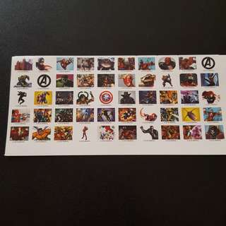 🚚 Set 1 of 6 Marvel Avengers Mini Square Sticker Stickers