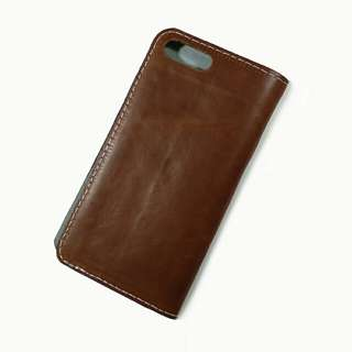 iphone 7 8 plus 通用真皮電話殼 手機殼 手機套 leather phone case cover