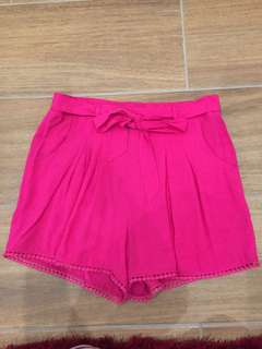 French connection size 10 pink shorts